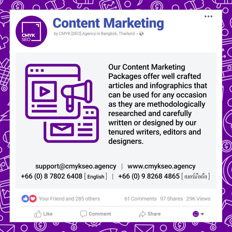 Content Marketing Services by CMYK SEO Agency in Bangkok Thailand | CMYK [SEO]: Bangkok SEO/SEM Agency