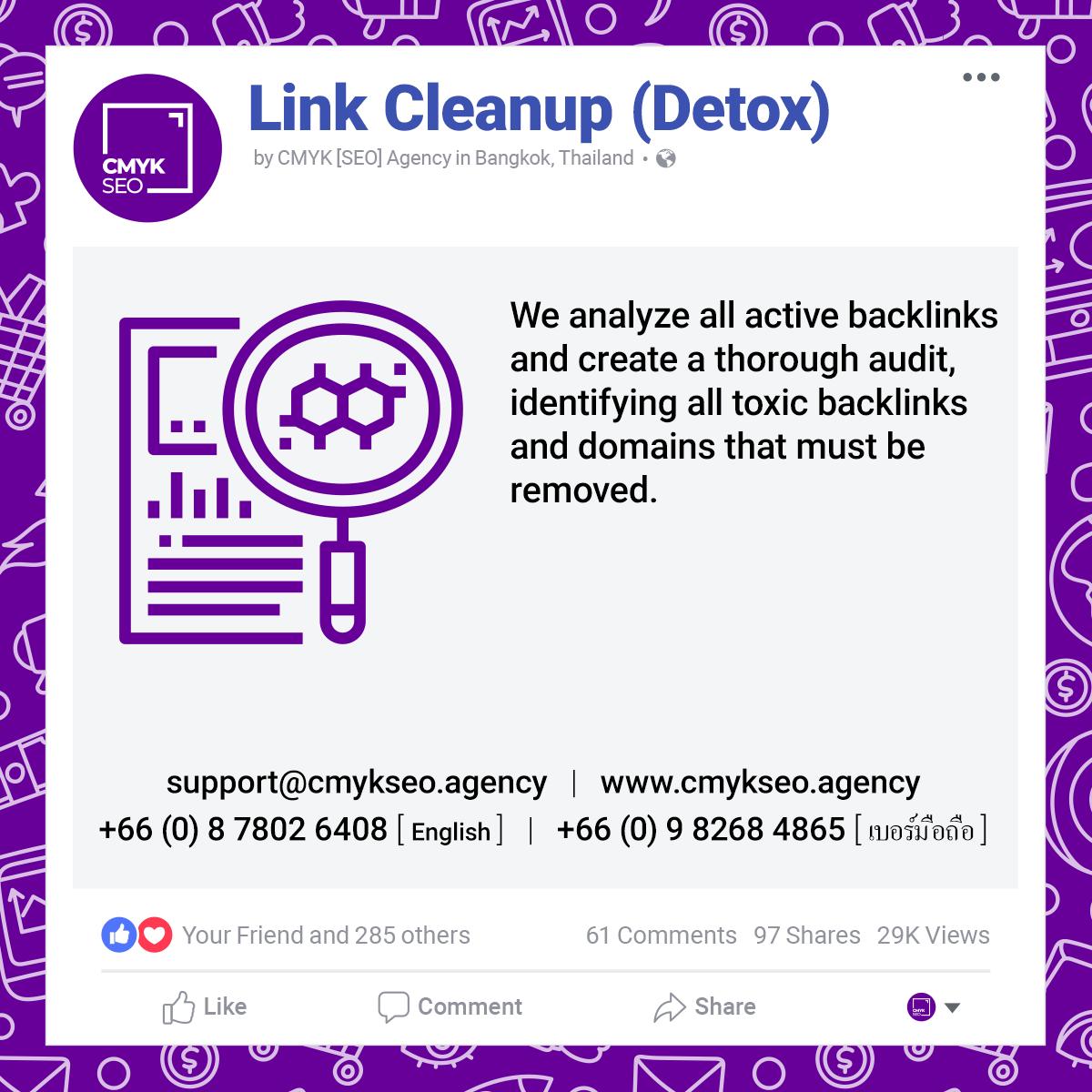 Link Cleanup Detox Services by CMYK SEO Agency in Bangkok Thailand | CMYK [SEO]: Bangkok SEO/SEM Agency