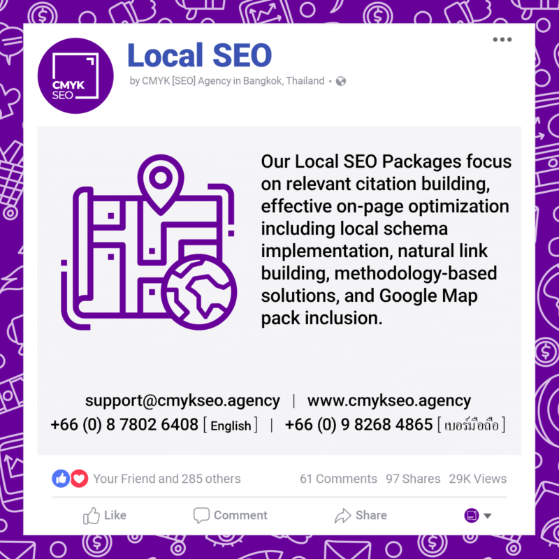 Local SEO Services by CMYK SEO Agency in Bangkok Thailand | CMYK [SEO]: Bangkok SEO/SEM Agency