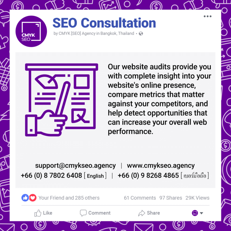 SEO Consultation Services by CMYK SEO Agency in Bangkok Thailand | CMYK [SEO]: Bangkok SEO/SEM Agency
