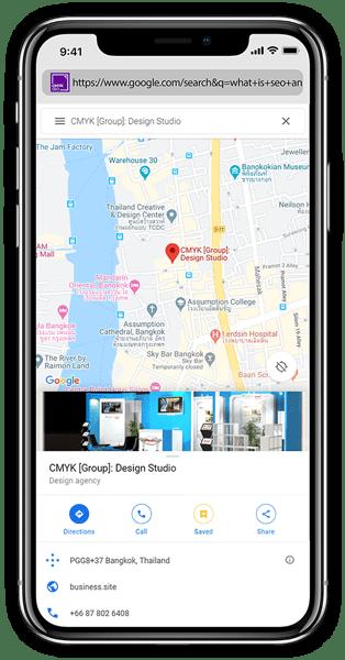 cmyk seo agency laptop google map | CMYK [SEO]: Bangkok SEO/SEM Agency